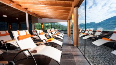 "Wellnessbereich alpinahotel|Panorama Ruheraum 5. Stock ""adults only"""